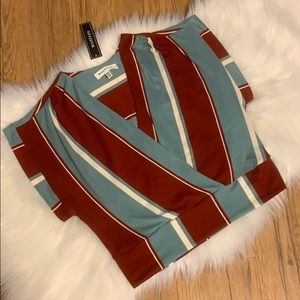 Montreal Striped Crop Top